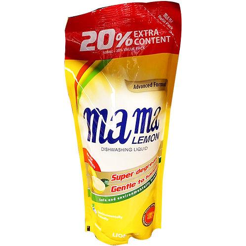 Mama Lemon Dishwashing Liquid Refill - Natural Lemon 600ml