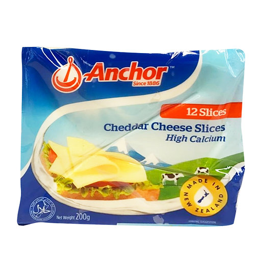 Anchor Cheddar Cheese Slices 3 x 200g (12 per pack)