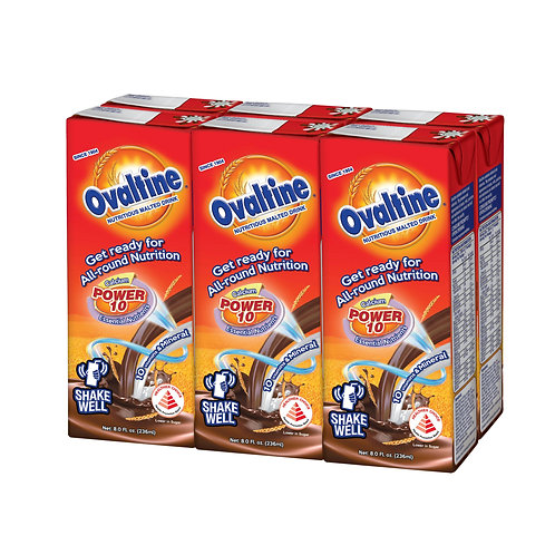 Ovaltine Malted Chocolate Packet Drink 6 x 236ml
