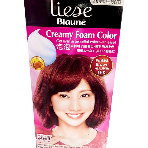 Liese Blaune Creamy Foam Colour - Pinkish Brown (1PK)