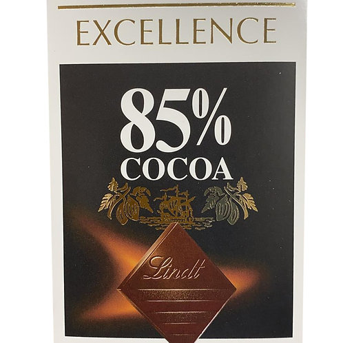 Lindt Excellence Chocolate Bar - 85% Cocoa (Rich Dark) 100g