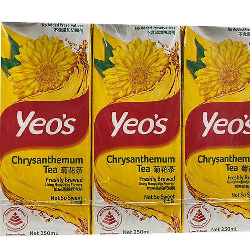 Yeo's Packet Drink - Chrysanthemum Tea (Not So Sweet) 6 x 250ml
