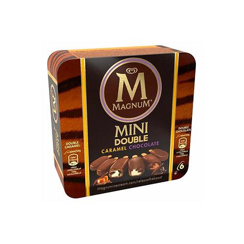 Magnum Mini Double Ice Cream - Caramel & Chocolate 6 x 60ml