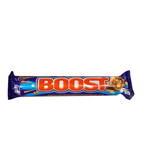 Cadbury Boost Chocolate Bar - Smooth Choc packed with biscuits 60g