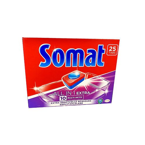 Somat 10 Multi-Action All-in-1 Extra Dishwasher Tablets 25 per pack