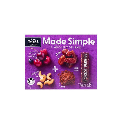Tasti Made Simple Forest Fruits Bars 150g