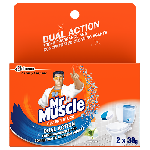 Mr Muscle Cistern Block Dual Action 2 x 38g