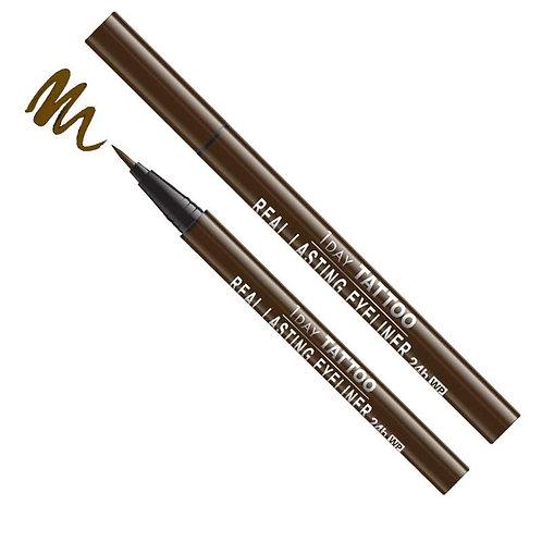 Real Lasting Waterproof Eyeliner - Brown Black