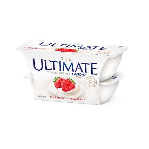 Danone Ultimate Yoghurt - Succulent Strawberry 4 x 115g