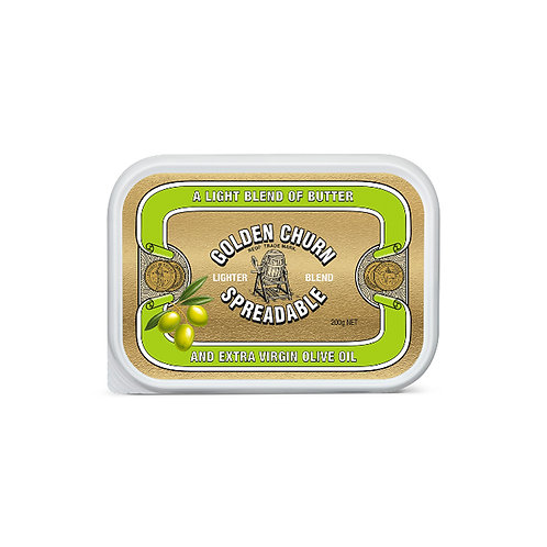 Golden Churn Spreadable Lighter Butter - Olive Oil 200g