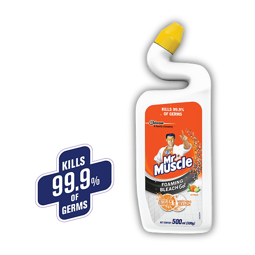 Mr Muscle Toilet Cleaner Foaming Bleach Gel Citrus 500ml