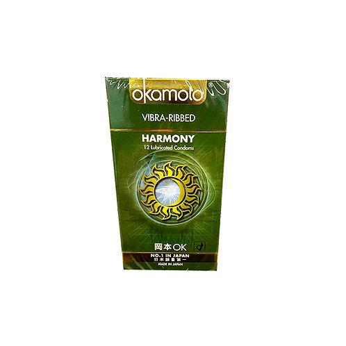 Okamoto Condom - Vibra Ribbed Harmony 12pc