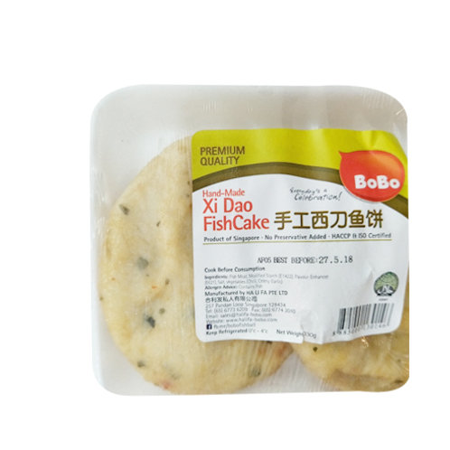 BoBo Xi Dao Fish Cake - Hand-Made 330g (3 per pack)