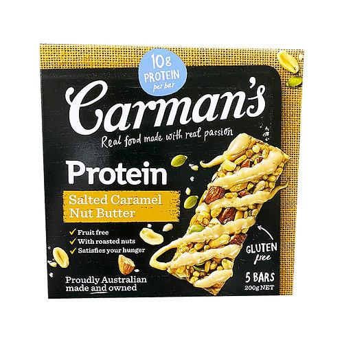 Carman's Gourmet Protein Bars - Salted Caramel Nut Butter 5 x 40g