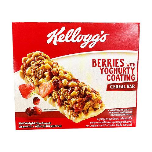 Kellogg's Cereal Bar - Berries with Yogurty Coating 4 x 25g
