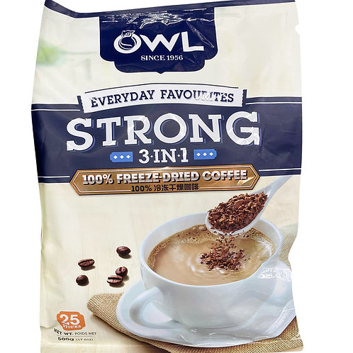 Owl 3 in 1 Instant Coffee - Strong 20 + free 5 x 20g