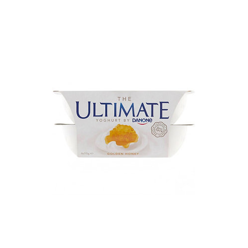 Danone Ultimate Yoghurt - Golden Honey 4 x 115g