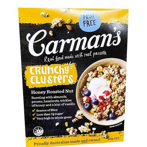 Carman's Crunchy Clusters - Honey Roasted Nut 500g