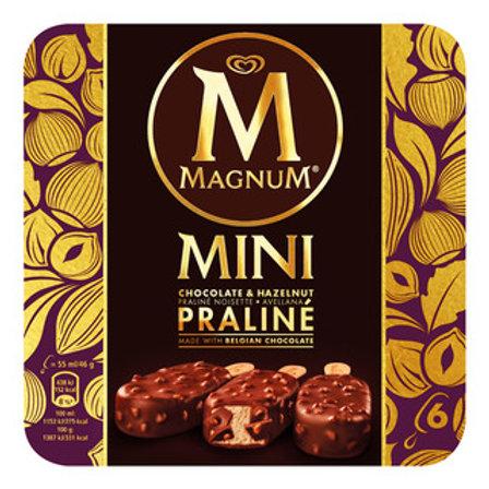 Magnum Mini Ice Cream - Chocolate & Hazelnut Praline 6 x 55ml