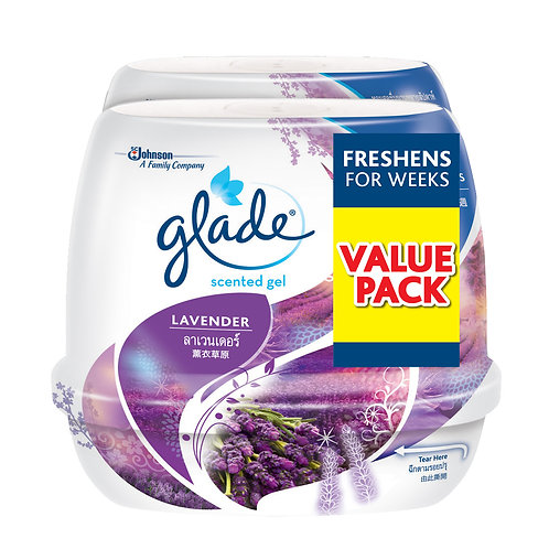 Glade Scented Gel Lavender 180g x2 Twin Pack