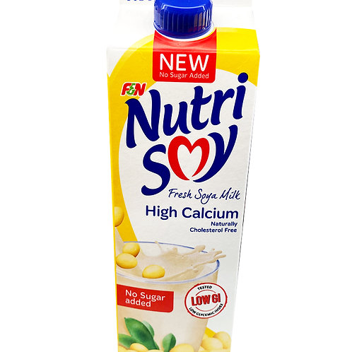 F&N NutriSoy High Calcium Fresh Soya Milk - No Sugar Added 1L