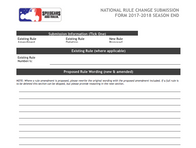 Rule Change Submission Form Available for Download