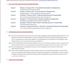 17-18 Six Crown Series Supplementary Regulations