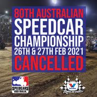 20/21 AUSTRALIAN SPEEDCAR CHAMPIONSHIP CANCELLED