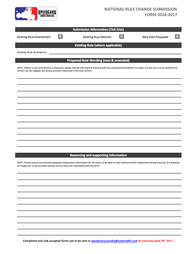 Rule Change Submission Forms Now Available