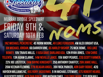 Official Nominations for the77th Australian Speedcar Championship!