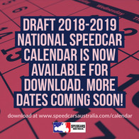 DRAFT National 2018-2019 Speedcar Calendar Available for Download!