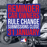 REMINDER CAR OWNERS: RULE CHANGE SUBS CLOSE 31JAN