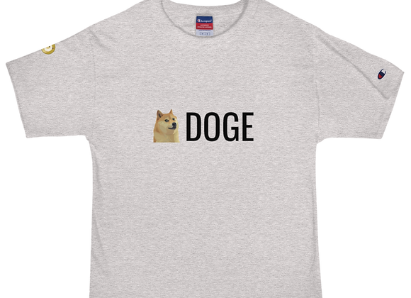 Doge Face Men's Champion T-Shirt
