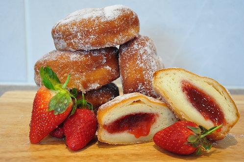 Strawberry Jam Doughnuts