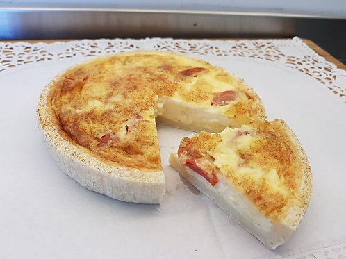 Cheddar Cheese and Cherry Tomato Quiche