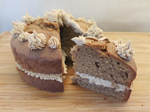 Coffee Cake filled and topped with creamy coffee icing
