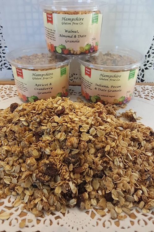 Sultana, Pecan & Date Granola with no added sugar