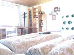 bedroom with 'Kachelofen'