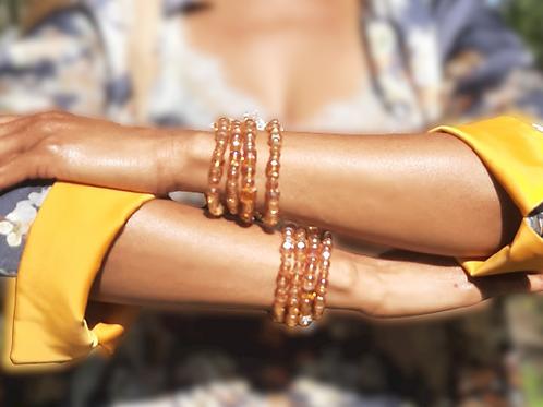 Amber Stretch Bracelet Set