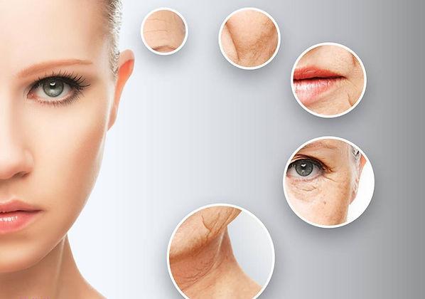 Zone invecchiamento viso donna