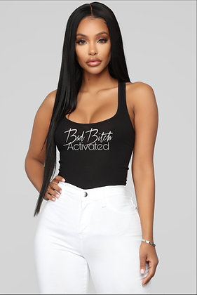 """Bad Bitch Activated"" Racer Back Tank Top"