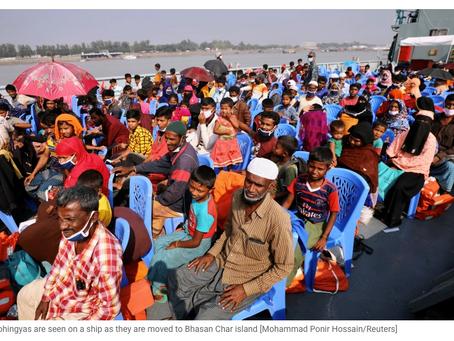 Bangladesh Relocates Rohingya Refugees to a Remote Island
