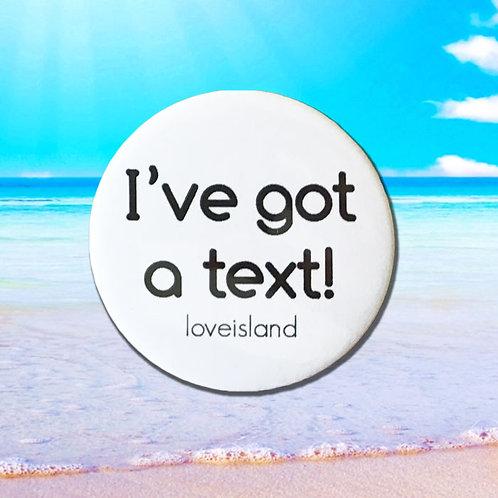 Love Island 'I've got a text!'
