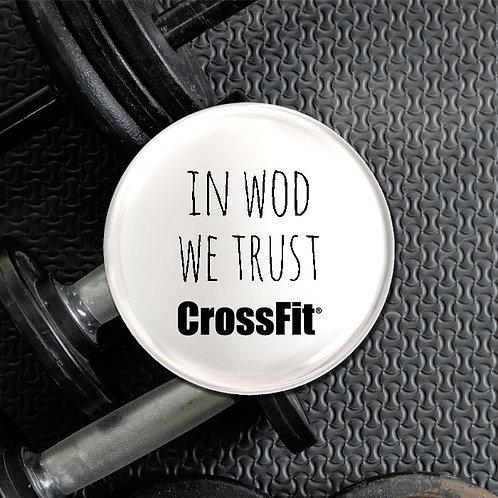 In WOD We Trust Crossfit Badge