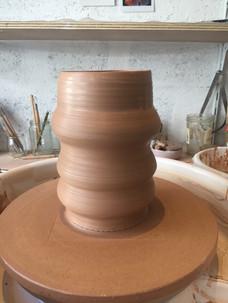 Vase grand format tout juste tourné