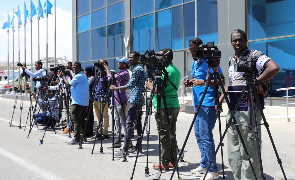 Somali journalists in Mogadishu, Somalia December 29, 2019.  © REUTERS/Feisal Omar