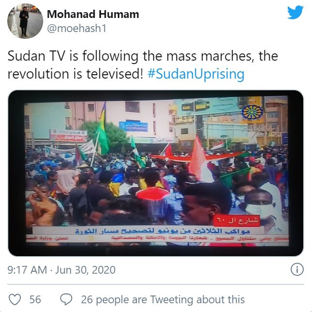 Televised Uprising in Sudan (BBC NEWS)