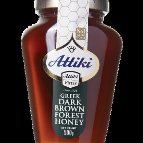 Attiki Greek Dark Brown Forest Honey 500G