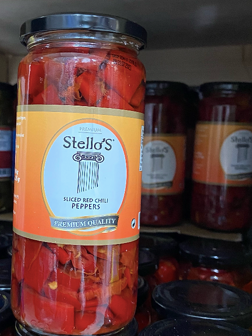 Stello's Sliced Red Chilli Peppers 490G
