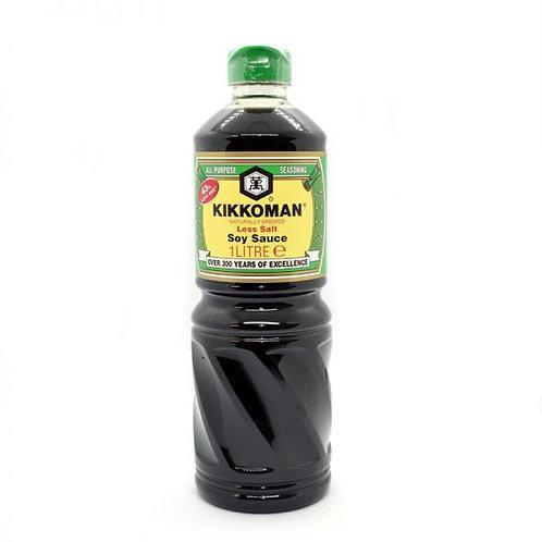 Kikkoman Soy Sauce with Less Salt 1LT